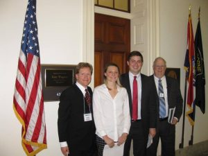 Meeting with Rep. Ann Wagner's staff to talk about the Carbon Fee and Dividend during Citizens' Climate Lobby Day in Washington D.C..