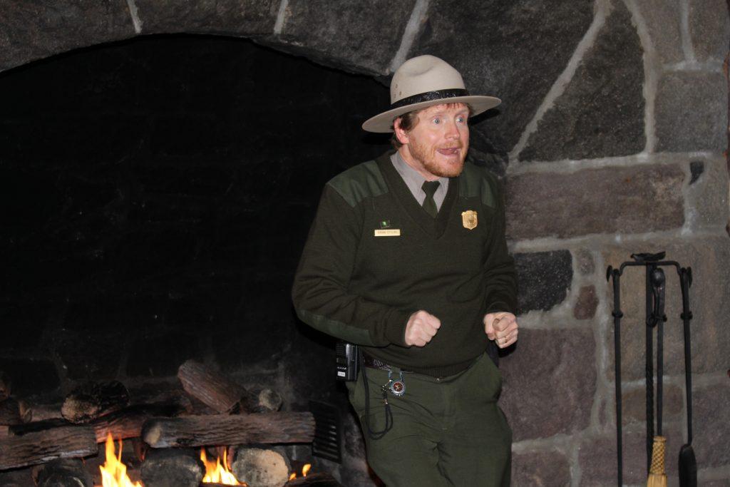 Brian giving a lodge talk at Crater Lake National Park.