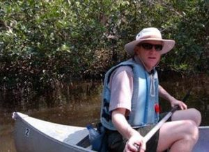Leading a canoe trip in Everglades National Park.